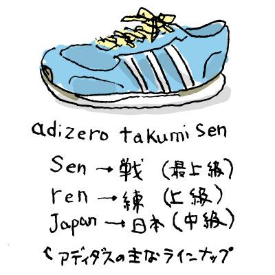 adizero takumi senを試し履き