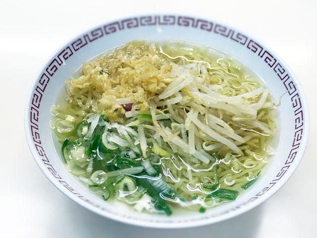 鳥取市役所の社員食堂の素ラーメン